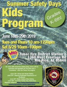 Tubac Fire Summer Kids program
