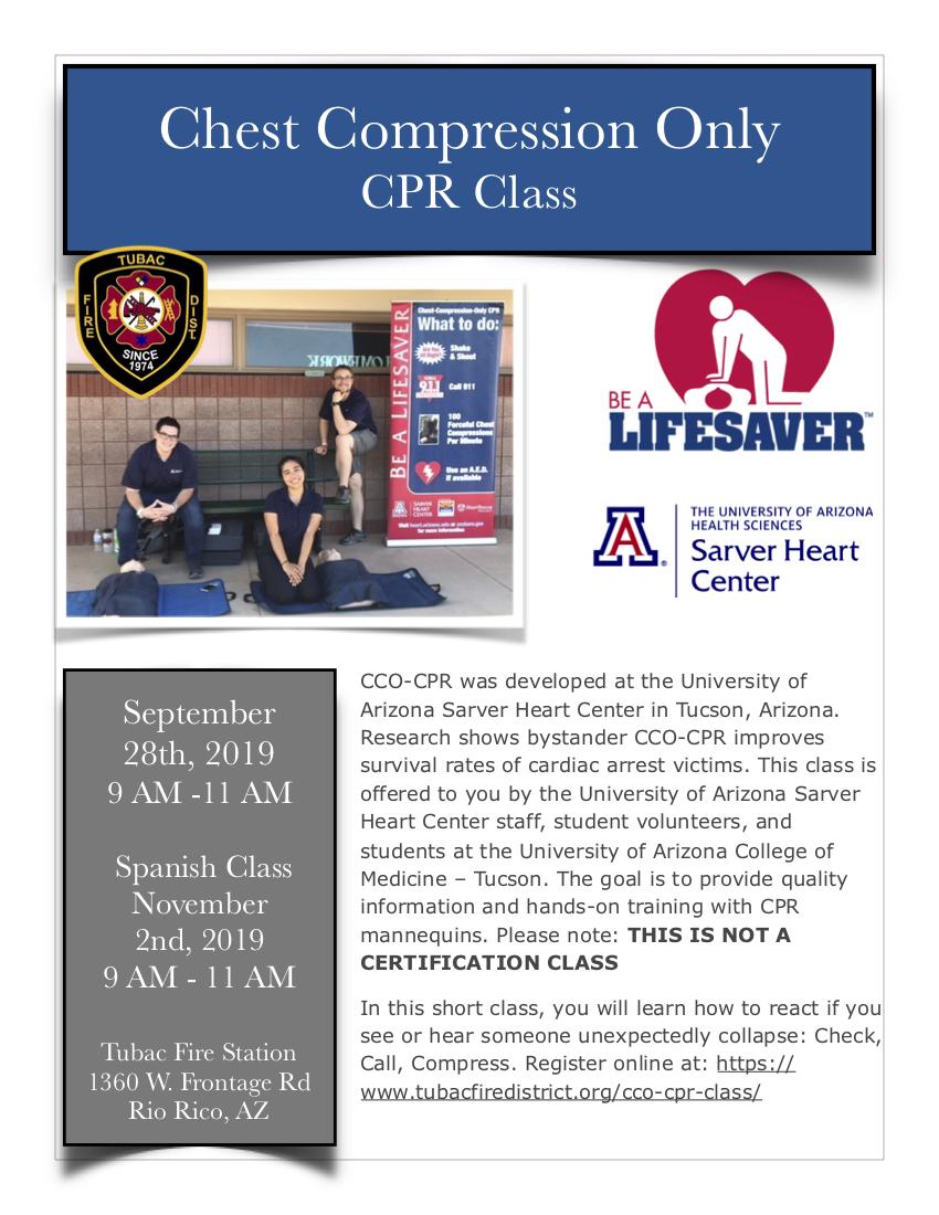 CCO CPR Tubac